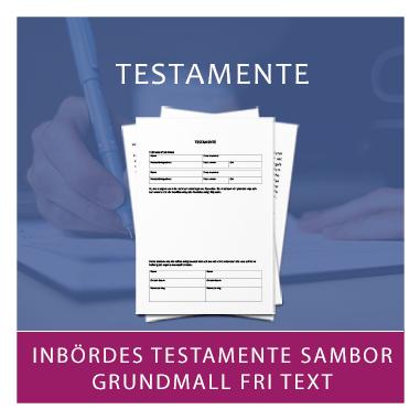 Mall för testamente mellan sambor med fri text