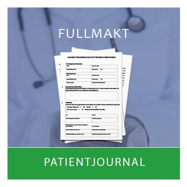 Mall av fullmakt för patientjournal